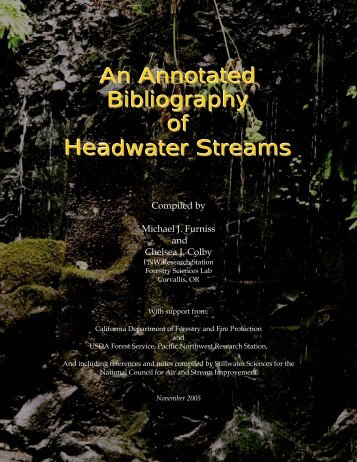 An Annotated Bibliography of Headwater Streams - Furniss and ...