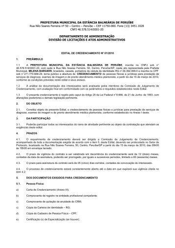 Credenciamento - Peruíbe