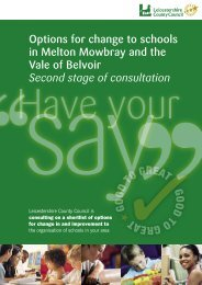 Options for Change Booklet - The Second Stage of Consultation
