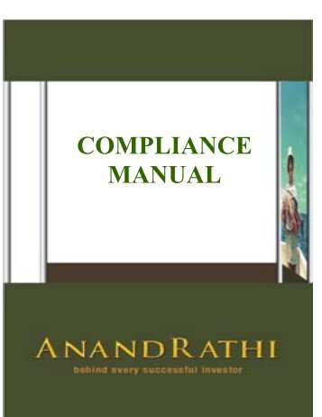 ARG COMPLIANCE MANUAL - Rathi Online
