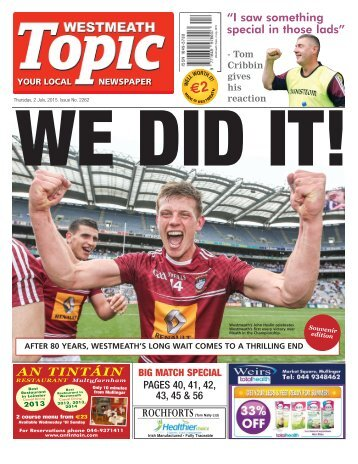 Westmeath Topic- 2 July 2015