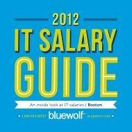 An inside look at IT salaries | Boston - Bluewolf