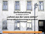 Demographische Entwicklung im Landkreis Bad Kissingen