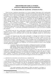 RENCONTRER DIEU DANS LA LITURGIE : - IET