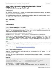 CHEM 498Q / CHEM 630Q: Molecular Modeling of Proteins ...