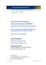 PGC Exemple au 31.12.2006, Partie 2 - Swiss Institutional Survey
