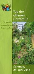 Tag der offenen Gartentür - Bayerischer Landesverband für ...