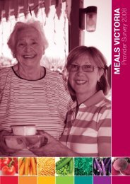 Cover & Introduction - Meals on Wheels ~ Victoria