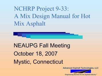 A Mix Design Manual for Hot Mix Asphalt - neaupg