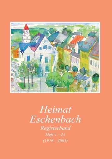 Heimat Eschenbach Registerband - heimatverein-eschenbach