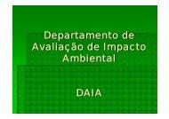 Departamento de Avaliação de Impacto Ambiental DAIA - ASEC