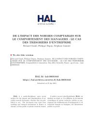 DE L'IMPACT DES NORMES COMPTABLES SUR LE ... - Hal