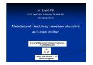 A fejlettség–elmaradottság mérésének alternatívái az Európai ...