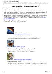 Argumente für die Existenz Gottes - was-Christen-glauben.info