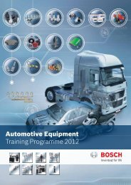 Automotive Equipment Training Programme 2012 - Bosch - in India