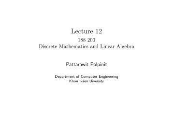 188 200 Discrete Mathematics and Linear Algebra - Department of ...