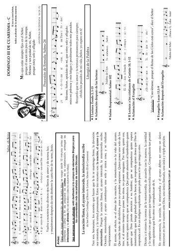 DOMINGO III DE CUARESMA - C - coro san clemente i
