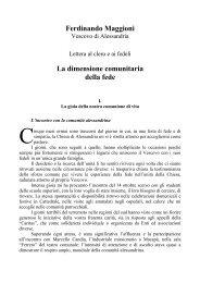 1981 La dimensione comunitaria della fede - Diocesi di Alessandria
