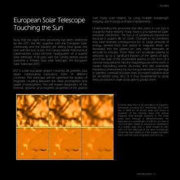 European Solar Telescope Touching the Sun
