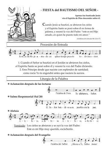 FIESTA del BAUTISMO DEL SEÑOR - coro san clemente i