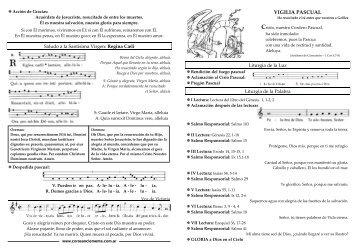 VIGILIA PASCUAL - coro san clemente i