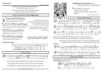 DOMINGO V DE PASCUA – B - coro san clemente i