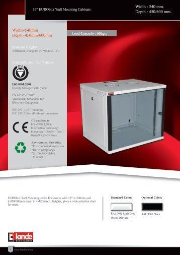 EURObox Wall Mounting Cabinets Pdf View - LANDE