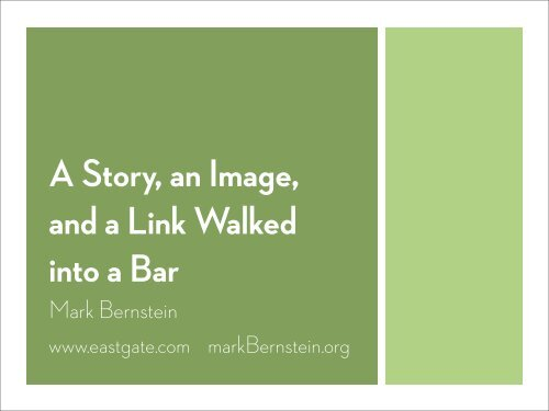 """""""We are of o different kinds,"""" the older waiter said ... - Mark Bernstein"""