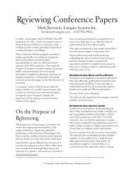 Reviewing Conference Papers - Mark Bernstein
