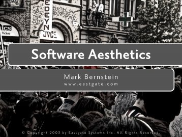 Software Aesthetics - Mark Bernstein