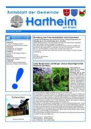 Apotheken-Notdienst - Gemeinde Hartheim