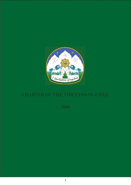 CHARTER OF THE TIBETANS-IN-EXILE