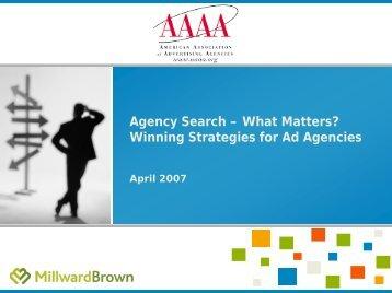 Winning Strategies for Ad Agencies - American Association of ...