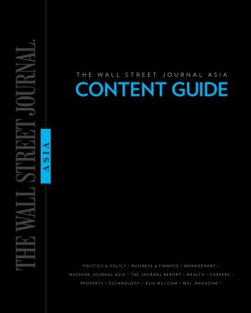 CONTENT GUIDE - Wall Street Journal Asia