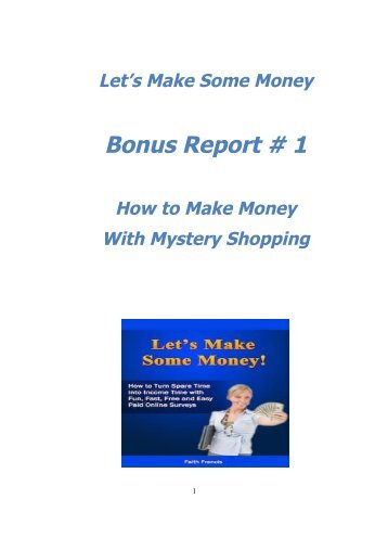 How to Make Money with Mystery Shopping - Free Online Surveys ...