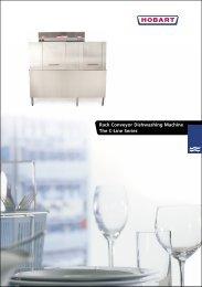 Rack Conveyor Dishwashing Machine The C-Line Series