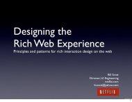 Designing the Rich Web Experience - Bill Scott's Portfolio
