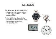 KLOCKA - Teknik från Lillåns skola