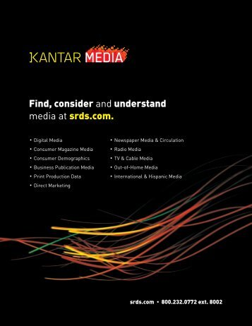 Find, consider and understand media at srds.com.
