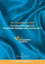Banquet and Hospitality Management Awards 2011