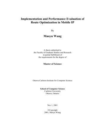 Carleton university masters thesis
