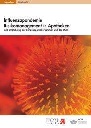 Influenzapandemie Risikomanagement in Apotheken