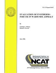 evaluation of evotherm® for use in warm mix ... - Auburn University