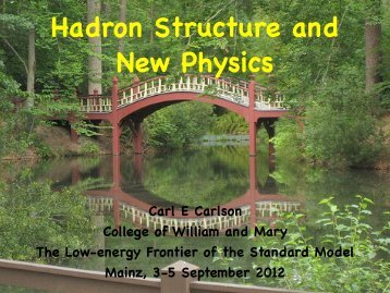 Hadron Structure and New Physics