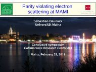 Parity violating Electron Scattering at MAMI