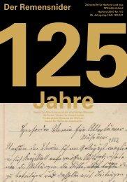 Der Remensnider 2007-1+2.pdf - Geschichtsverein Herford