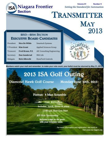 2013 ISA Golf Outing - ISA - Niagara Frontier Section