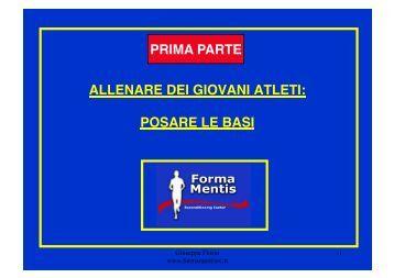 Preparazione settore giovanile - Prof. Giuseppe Florio