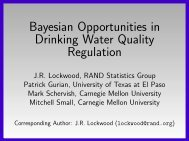 Bayesian Opportunities in Drinking Water Quality Regulation