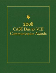 2008 Communications Award Winners - CASE District VIII ...